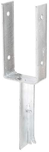 GAH-Alberts 216795 U-Pfostenträger | mit Betonanker aus T-Eisen | feuerverzinkt | lichte Breite 101 mm | Länge Betonanker 200 mm