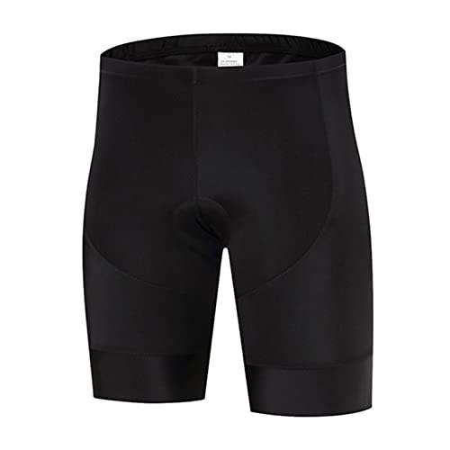 GDYJP Hombres de Verano Pantalones Cortos de Ciclismo con Almohadilla Interna Absorbente Transpirable Sudor Montar Ropa Interior Ropa de Ejercicio de Ocio (Color : Black, Tamaño : L)