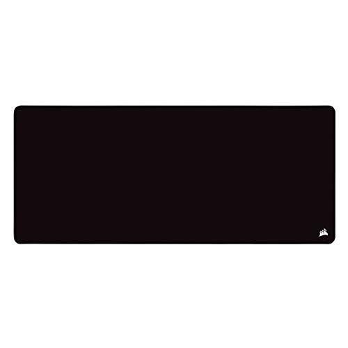 Corsair MM350 PRO Spritzwassergeschütztes Premium-Gaming-Mauspad aus Stoff (Fläche 93 × 40 cm, Mikrofasergewebe, 4mm Starke Weiche Gummikonstruktion, Rutschfesten Gummiunterseite) Extended XL, Schwarz