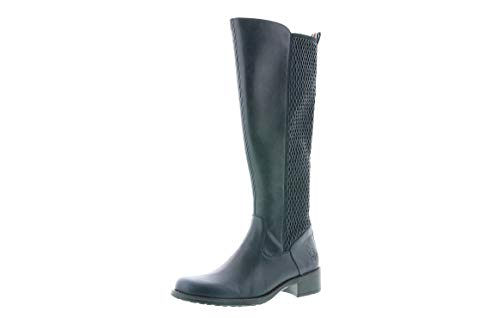 Rieker Damen Stiefel, Frauen Klassische Stiefel, reißverschluss Ladies feminin elegant Women's Women Woman Freizeit,Navy,39 EU / 6 UK