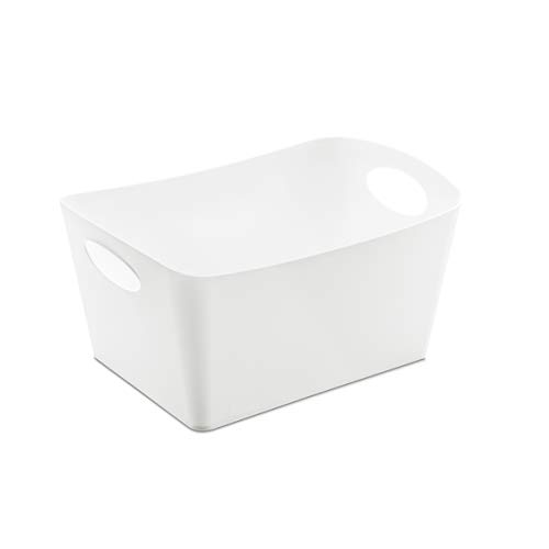 koziol Aufbewahrungsbox 3,5 L Boxxx M, Kunststoff, solid weiß, 20,3 x 29,7 x 15 cm