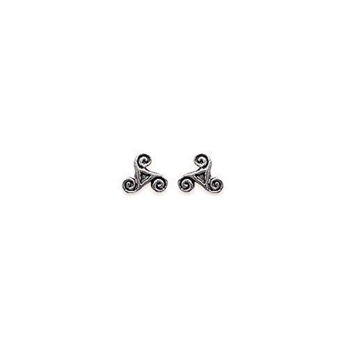 Les Plaisirs de Stella - Pendientes para mujer de plata 925/000, diseño con símbolo de trisquel celta