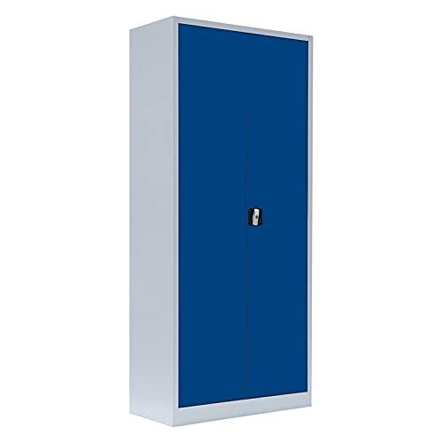 Flügeltürenschrank kompl. montiert und verschweißt Schrank blau Stahlblech Lagerschrank...