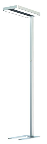 RealLED LED Büro Arbeitsplatz Deckenfluter Stehlampe Office 80 Watt Neutralweiß Idealer Bildschirmarbeitsplatz