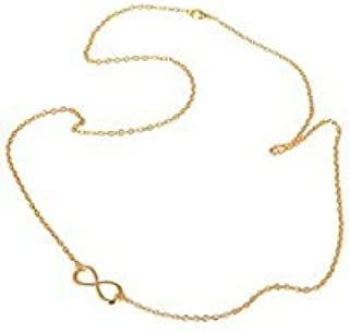 Town Of Trinkets Gold Bikini Belly Body Waist Layer Link Chain with Infinity Charm