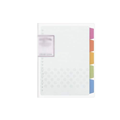Quaderno Universitario e diario Spirale A5 Notebook Riutilizzabile Studente Bambino Viaggio Fai da Te Quaderno a Fogli mobili Diario Plan Binder (Color : B-b5, Dimensione : 6PCS)