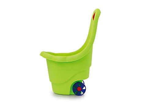 Jamara 460423 - speelgoedtrolley Rolly Ron groen - opbergen of vervoeren van speelgoed, 15 kg laadvermogen, stabiele kunststof, gemakkelijk te reinigen, met handgreep