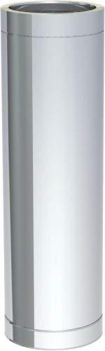Edelstahlschornstein doppelwandig DN150 1000 mm Rohrelement Abgas Rohr 0,5 mm