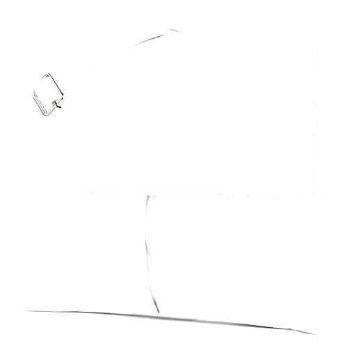 modamoda de - T63 - ital Umhängetasche Schultertasche Nappaleder, Farbe:Weiß