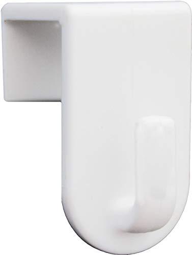 Fensterhaken, Dekohaken, weiß - 20er-Set, 35 x 20 mm - Für Fenster bis maximal 17mm Falzmaß geeignet