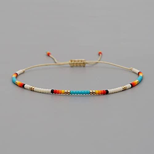 yuge Pulsera de Cuentas de Estilo Bohemio, Pulsera de Playa arcoíris, joyería de Mujer, joyería de Regalo de Amistad Bohemia MI-B200580D