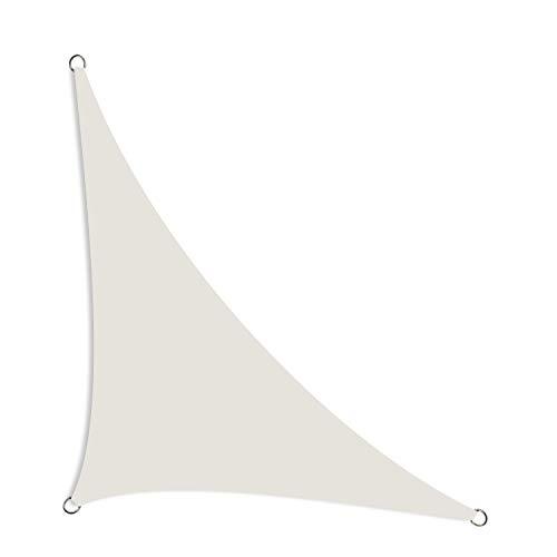 Schramm® Sonnensegel dreieckig in 2 Sonnenschutz Sichtschutz Windschutz, Farbe:grau, Größe:2.50 m x 2.50 m x 3.50 m