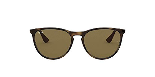 Ray-Ban Junior RJ9060S Erika Kids Round Sunglasses, Rubber Tortoise/Brown, 50 mm