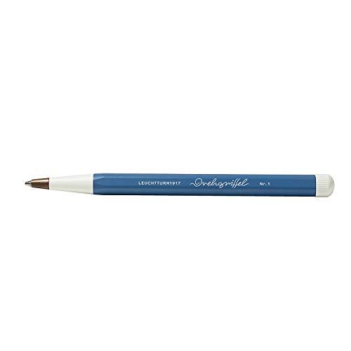 LEUCHTTURM1917 362458 Drehgriffel Nr. 1, Denim, Kugelschreiber mit königsblauer Tinte
