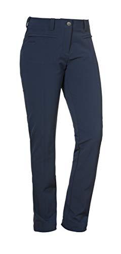 Schöffel Damen Pants Yongin elegante und komfortable Wanderhose mit 4-Wege-Stretch, wasserabweisende Outdoor Hose mit optimaler Passform