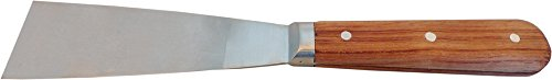 HAROMAC Malerspachtel aus Rosenholz, 40 mm, rostfreier Edelstahl, Rosenholzheft, Profi-Ausführung, Trockenbau, Farbspachtel, Abrennspachtel