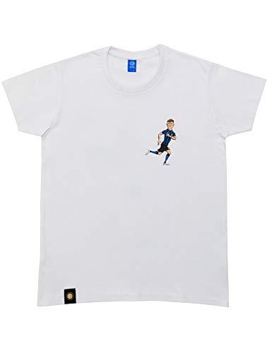 Inter T-Shirt Characters Barella, Unisex – Adulto, Bianco, M