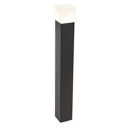 QAZQA Moderno Baliza negra pantalla blanca translúcida 70cm - DENMARK Aluminio/Plástico Alargada...
