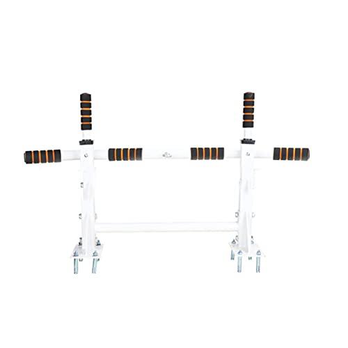 HBCC Barra de dominadas Multifuncional montada en la Pared Sistema de Barra de tracción Barra de Barbilla de Fitness Interior Equipo de Entrenamiento Dips Situps Barra de Flexiones White
