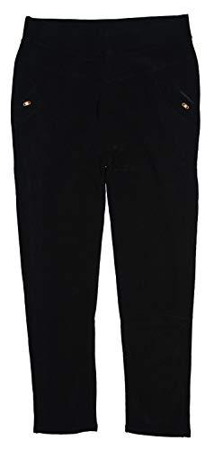m.g.fashion Damen Thermo Leggins Stretch Hose, Treggins, gefüttert, schwarz LM9630, Gr.44 (Etikett 3XL/4XL)