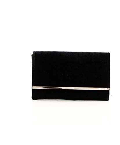 Eferri Glamour, Bolso de Noche Fiesta Detalles para Mujer, Negro, 27x17x6 cm