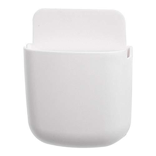 MNSYD Fernbedienungshalter Wand-Organizer Universal Lochfreier, Selbstklebender Aufbewahrungskoffer für Nachttisch-Nachttischbett in der Schule,Weiß