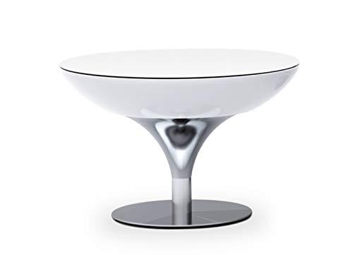Moree Table basse Lounge 55, métallique/Blanc, Aluminium/Plastique, 07–05–01