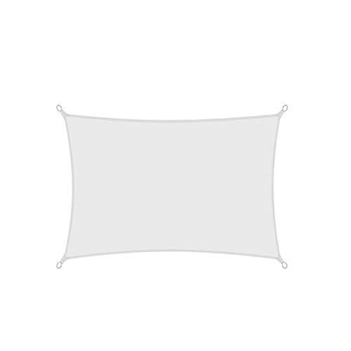 CH-GTJ Toldo Vela De Sombra Rectangular, Protección Rayos UV, Toldo Resistente E Lmpermeable, Exteriores, Jardín,Blanco,3.6X3.6m