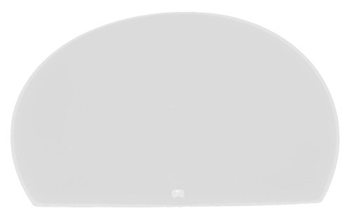 Maya 81916 – raclette souple, pour masse Ronde sans trou, 160 x 125 x 1,65 mm, Blanc