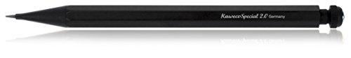 Kaweco SPECIAL Druckbleistift 2.0 I Minenbleistift aus hochwertigem Aluminium in oktogonalem Acht Kant Format I Druckminenbleistift 14 cm I Druck-Bleistift nachfüllbar Schwarz ohne Radiergummi
