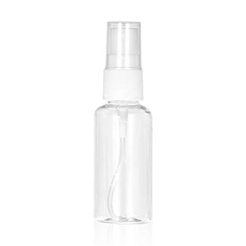 Bottiglie da viaggio,Fesjoy 30ml Trasparente PET Spray Bottle Fine Nebulizzatore Mini bottiglia da viaggio Contenitore vuoto riutilizzabile in plastica per profumo Cosmetico per trucco Atomizzatore