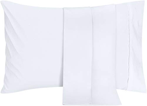 Utopia Bedding Pillowcases - 2 Pack - Envelope Closure - Soft Brushed Microfiber Fabric- Wrinkle, Shrinkage and Fade Resistant Pillow Covers (Queen, White)