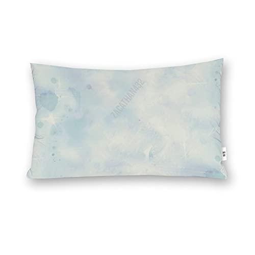 Funda de almohada para cuerpo de Navidad, textura de nieve azul, compañero de invierno Elizabeths Studio azul licuadora fondo de nieve de invierno, funda de almohada de madera, 50,8 x 70,8 cm de largo