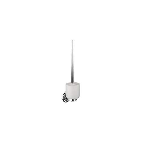 Support balai wc - Profondeur : 119 mm - Platine : 75 mm - Hauteur : 400 mm - Décor : Chromé - Matériau : Laiton - ITAR