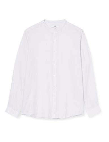 find. Long Sleeve Linen Shirt Hemd Herren, violett (Flieder), L