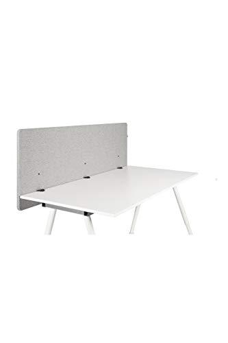 hjh OFFICE Akustik Trennwand Schreibtisch FLEXMIUT D 62 x 160 cmStoff Hellgrau Sichtschutz Tischtrennwand 891009