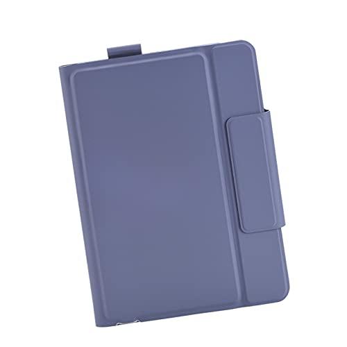 H HILABEE Funda portátil con teclado Bluetooth para iPad Pro de 10,5', funda protectora con soporte todo incluido - Púrpura