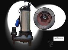 !! Profi !! Tauchpumpe Schmutzwasserpumpe Fäkalienpumpe WQ1500 mit Schneidwerk/Cutter, Leistung 1500Watt, Spannung 230V/50Hz, Fördermenge 42000l/h=700 l/min, Förderhöhe 16,5m.