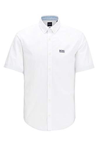 BOSS Herren BIADIA R Regular-Fit Hemd aus feuchtigkeitsableitender Stretch-Baumwolle