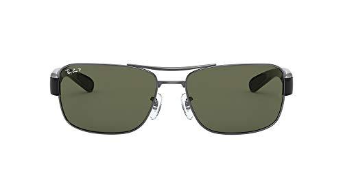 Ray-ban Mod. 3522 - Gafas de sol para hombre, color negro (gunmetal/polargreen), talla 61