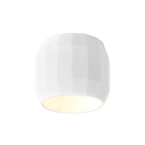 Lámpara de Techo G9 LED 2,2W con el Exterior en cerámica e Interior en Esmalte, Modelo Scotch Club C, Color Blanco, 14,7 x 14,7 x 12,9 centímetros (Referencia: A656-033)