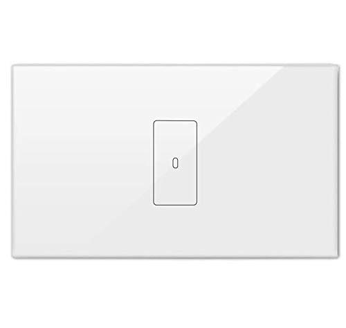 LoraTap Interruttore Luce Smart WiFi Italiana 20A 4400W Interruttore Tattile da Parete Wireless Timer Switch, Controllo Remoto con Telefono App iOS Android, Compatibile con Alexa Echo e Google Home