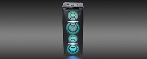 Muse M-1950 DJ PA-Anlage 500 Watt, mit CD, Bluetooth und Licht-Effekten (USB, AUX, Mikrofon, Fernbedienung), schwarz - 3