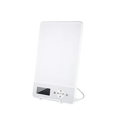 HITECHLIFE Lámpara de terapia de luz triste, lámpara de luz solar natural portátil con 4 modos de temporización, caja de luz triste de 10000LM, 3 brillos ajustables para el hogar/oficina