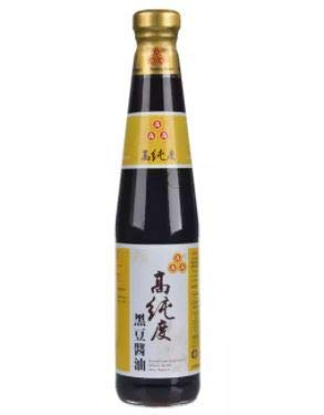 AAA Black Bean Sojasauce 400 ml – 100% aus schwarzen Bohnen Ohne Zusatz von Konservierungsstoffen, MSG, Süßstoff, Farbstoffe, glutenfrei.