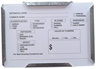 Pre-printed Vinyl Card for Plant Identification, Fits Steel Sign Holders, 7 x 5 Inches (25 Cards)