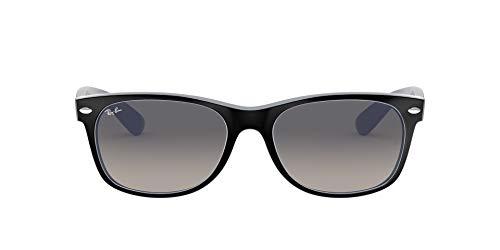 Ray-Ban Junior Herren New Wayfarer Sonnenbrille, Schwarz (Negro/Blanco), 0