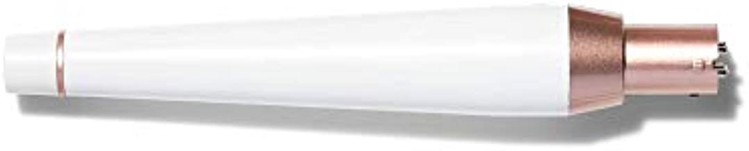 T3 Micro Tousled Waves Tapered Styling Wand Iron Barrel, Fits T3 Convertible Base Collection for Relaxed, Tousled Hair, Adjustable Heat Settings, White/Rose Gold, 1.25