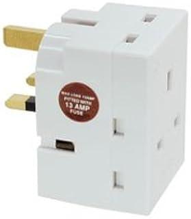 LINDY UK 3 Way Mains Adapter