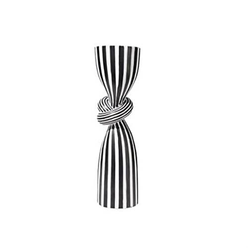 WSJQWHW Décorations en résine, Rayures Noires et Blanches, créatifs, artistiques, aménagement à Domicile, Salons, hôtels, Restaurants, décorations légères de Luxe.